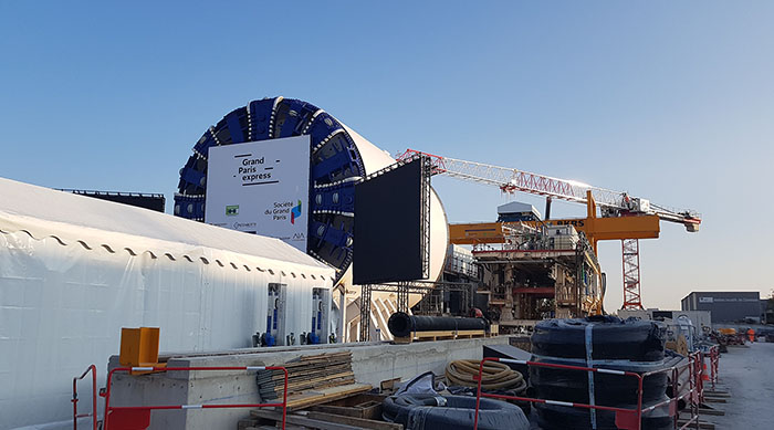 Launch of the tunnel boring machine L17