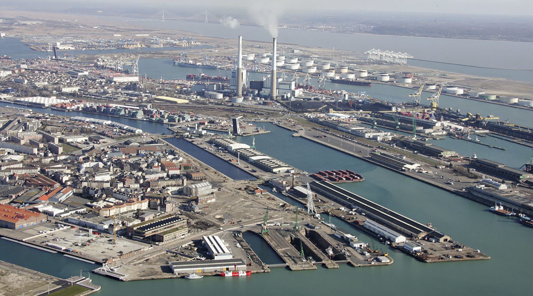 Chantier multimodal du Port du Havre